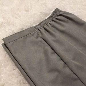 Alfred Dunner Pants - Light gray slacks size 14